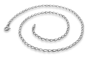 Sterling Silver Long Curb Chain Necklace - 2.15mm