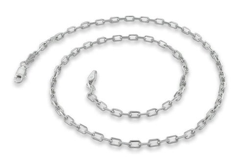 "Sterling Silver 18"" Cable Chain Necklace 2.8MM"
