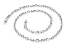 "Load image into Gallery viewer, Sterling Silver 7"" Cable Chain Bracelet - 2.8MM"