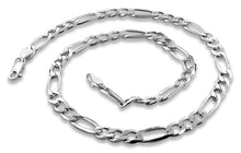 "Load image into Gallery viewer, Sterling Silver 7"" Figaro Chain Bracelet - 5.6MM"