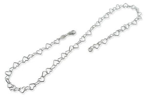 Sterling Silver Heart Chain Necklace 5.5MM