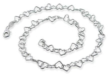 Load image into Gallery viewer, Sterling Silver Heart Chain Necklace 5.5MM