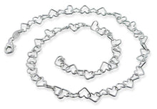"Load image into Gallery viewer, Sterling Silver 8"" Heart Chain Bracelet - 6.0mm"
