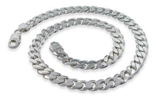 "Load image into Gallery viewer, Sterling Silver 7"" Curb Chain Bracelet - 9.5MM"