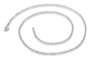 Sterling Silver Rollo Chain Necklace 2.0MM