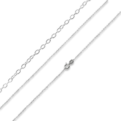"Sterling Silver 24"" Cable Chain Necklace 1.1mm"
