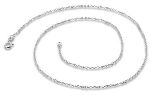 "Sterling Silver 14"" Cable Chain Necklace 1.1mm"