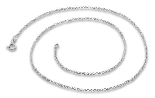 "Sterling Silver 16"" Cable Chain Necklace 1.2mm"