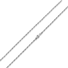 "Load image into Gallery viewer, Sterling Silver 8"" Bar & Bead Chain Bracelet 1+1 1.6mm"