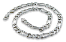 "Load image into Gallery viewer, Sterling Silver 9"" Figaro Chain Bracelet - 8.2MM"