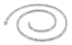 "Sterling Silver 28"" Figaro Chain Necklace 3.0MM"