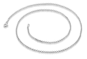 Sterling Silve  Rollo Chain Necklace 1.8MM