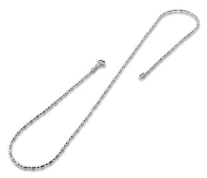 Sterling Silver Bar & Bead Chain 1+1 1.5MM