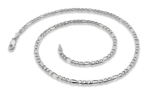 Sterling Silver Figaro Chain Necklace 3.1mm