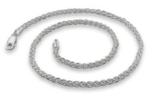 Load image into Gallery viewer, Sterling Silver Spiga Wheat Chain Necklace - 3.4MM