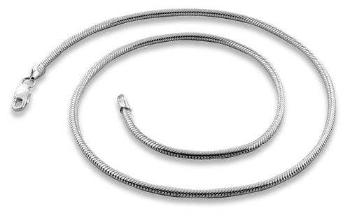 "Sterling Silver 30"" Snake Chain Necklace 2.2MM"