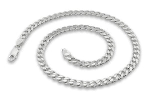 "Sterling Silver 7"" Curb Chain Bracelet 5.6mm"