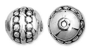 Sterling Silver Fancy Round Bead