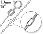 "Load image into Gallery viewer, Sterling Silver 18"" Forz D/C Chain Necklace - 1.3mm"