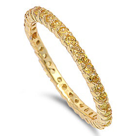 Gold Plated Silver Stackable Eternity Ring