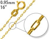 "Load image into Gallery viewer, Gold Plated Sterling Silver 16"" Forz D/C Chain 0.95MM"