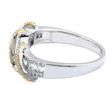 Load image into Gallery viewer, Sterling Silver Gold Plated Exotic Twisted CZ Ring
