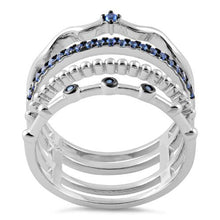 Load image into Gallery viewer, Sterling Silver Unique Multi-Style Blue Spinel CZ Ring