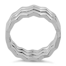 Load image into Gallery viewer, Sterling Silver 3 ZigZag Band Ring