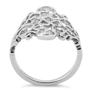 Sterling Silver Elegant Vines Ring