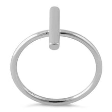 Load image into Gallery viewer, Sterling Silver Thin Bar Ring
