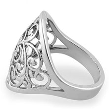 Load image into Gallery viewer, Sterling Silver Filigree Flower Caged Ring