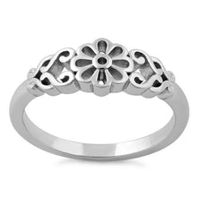 Load image into Gallery viewer, Sterling Silver Filigree Flower Ring