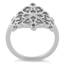 Load image into Gallery viewer, Sterling Silver Flower Filigree Ring