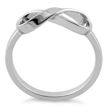 Load image into Gallery viewer, Sterling Silver Infinity Ribbon Ring