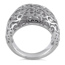 Load image into Gallery viewer, Sterling Silver Resilient Curvey Hearts Ring