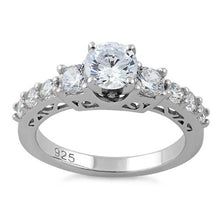 Load image into Gallery viewer, Sterling Silver Graduated CZ Ring