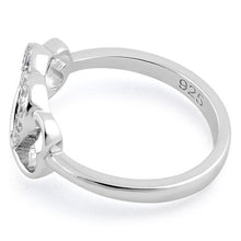 Load image into Gallery viewer, Sterling Silver Infinity Heart Clear CZ Ring