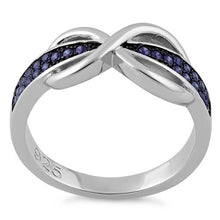 Load image into Gallery viewer, Sterling Silver Infinity Pave Amethyst CZ Ring