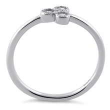 Load image into Gallery viewer, Sterling Silver Triplet Round Cut Clear CZ Ring