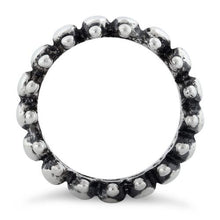 Load image into Gallery viewer, Sterling Silver Backbone Eternity Ring