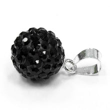 Load image into Gallery viewer, Sterling Silver Black CZ Ball Pendant
