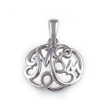 "Load image into Gallery viewer, Sterling Silver ""Mom"" Pendant"