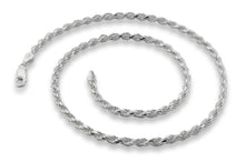 "Load image into Gallery viewer, Sterling Silver 8"" Rope Chain Bracelet 3.2MM"