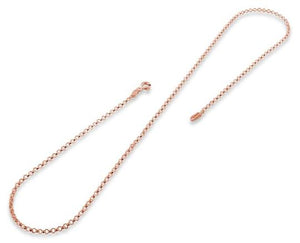 14K Rose Gold Plated Sterling Silver Rollo Chain 2.0MM