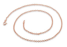 Load image into Gallery viewer, 14K Rose Gold Plated Sterling Silver Rollo Chain 2.0MM