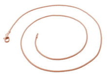 Load image into Gallery viewer, 14K Rose Gold Plated Sterling Silver Curb Chain 1.2MM