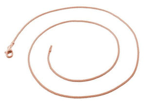 14K Rose Gold Plated Sterling Silver Curb Chain 1.2MM