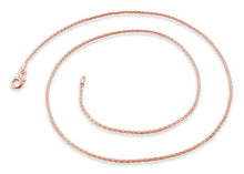 Load image into Gallery viewer, 14K Rose Gold Plated Sterling Silver Spiga Chain 1.2MM