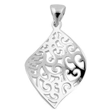 Load image into Gallery viewer, Sterling Silver Leaf Pattern Pendant