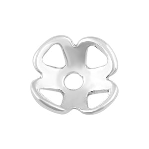 Sterling Silver Bead Flower Cap - PACK OF 10